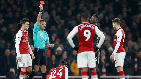 paul pogba disappointed  laurent koscielny  red card