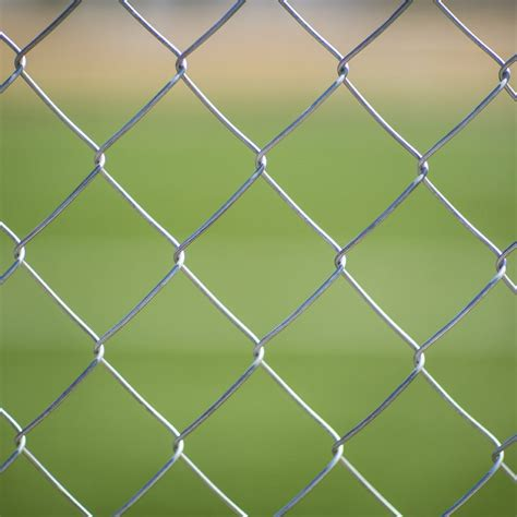 true galvanised chain link fence