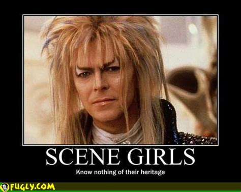 David Bowie Labyrinth Meme - scene girls know nothing random pictures