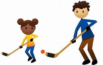 Ball Hockey Clipart Activities Children Baseball Physical