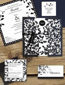 leafy affair black laser cut package online australia With wedding invitations laser cut perth