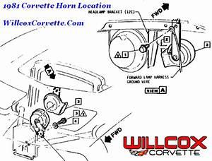 1981 Corvette Horn Location