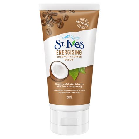 Coconut oil oily skin face mask this face pack is very good for lightening your skin tones by moisturizing. Buy Energising Coconut & Coffee Facial Scrub 150 mL by St Ives Online   Priceline