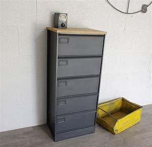 Rangement Métallique Industriel : meuble clapets administratifs m tal restaur meuble de rangement ~ Teatrodelosmanantiales.com Idées de Décoration