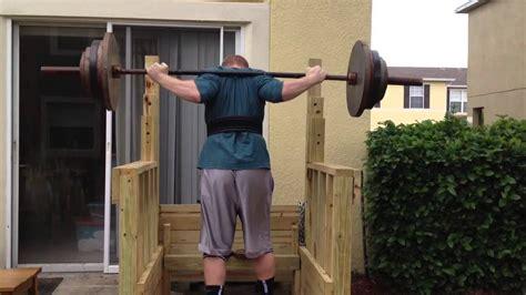 wooden squat rack youtube