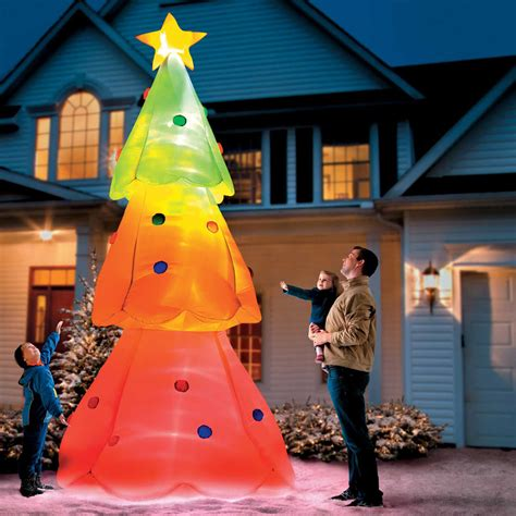 giant inflatable christmas color changing tree the green
