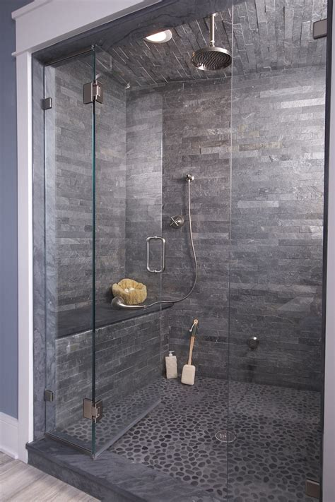 35 Stunning Ideas For The Slate Grey Bathroom Tiles In