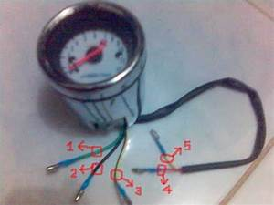 How To Install This Kind Of Tachometer To Tmx 155    Tnx