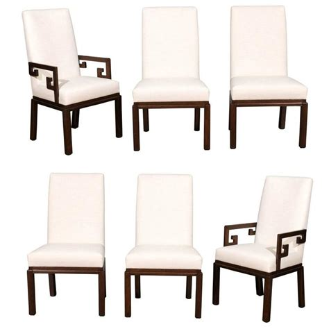 restored set of six parsons style dining chairs by