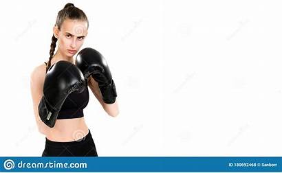Boxing Looks Gloves Camera Woman