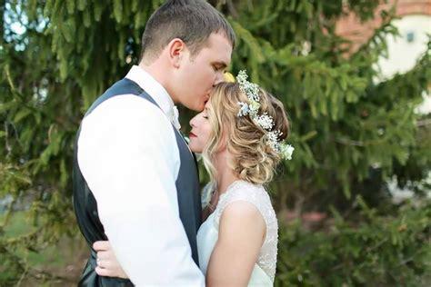 bridal updo bridal hair airbrush makeup flower headband
