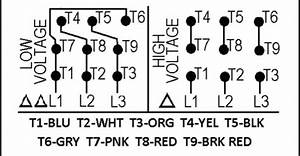 240 Volt 12 Lead 3 Phase Wiring Diagram