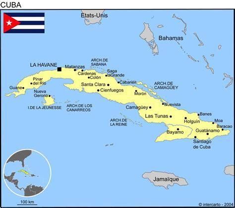 Carte Du Monde Cuba by Carte G 233 Ographique Et Touristique De Cuba La Havane