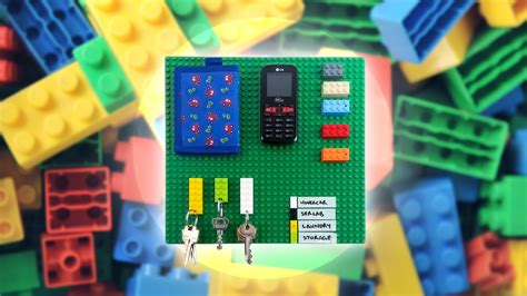 How To Build A LEGO Organiser For Your Keys And Everyday