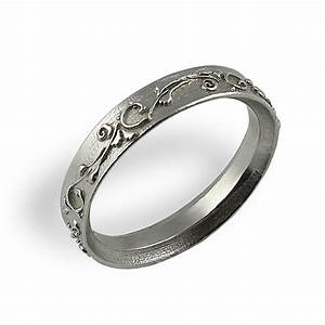 ornament wedding band white gold unique wedding ring With unusual wedding bands rings