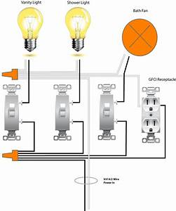 3 Switch Wiring Diagram Bathroom
