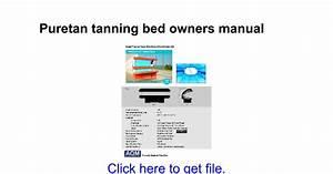 Montego Bay V56 Tanning Bed Manual