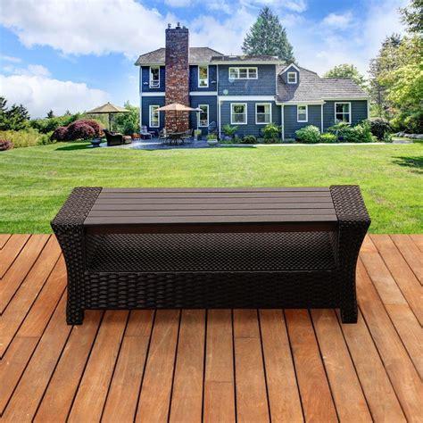 wicker patio coffee table hton bay belleville tile top patio coffee table 1522