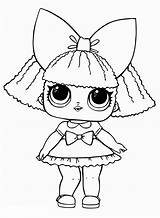 Lol Dolls Coloring Pages Surprise Pieces Bow sketch template