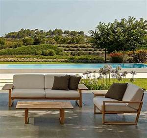Loungemöbel Holz Outdoor : teak holz lounge m bel lineal rattan loom korb m bel looms ~ Watch28wear.com Haus und Dekorationen