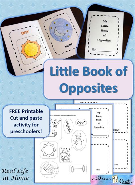 my little book of opposites free printable real life at home