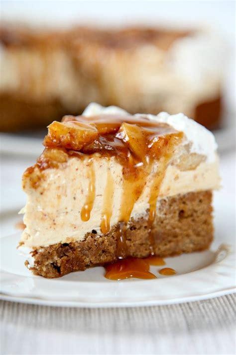 caramel apple crisp cheesecake baking beauty