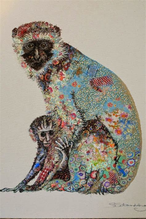rag rescue superb textile art  sophie standing