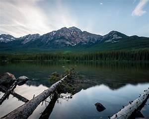 Pyramid, Mountain, In, Jasper, National, Park, Alberta, Canada, Best, Hd, Desktop, Wallpapers, For, Tablets