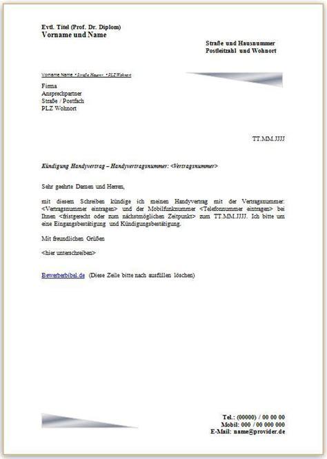 kündigung schreiben mietvertrag k 252 ndigung handyvertrag vodafone vorlage k 252 ndigung vorlage fwptc