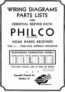 Philco Wiring Diagrams And Parts List 1928