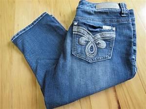 Defiant Led Puck Lights Seven 7 Cropped Crop Capri Jeans Cotton Polyester Spandex