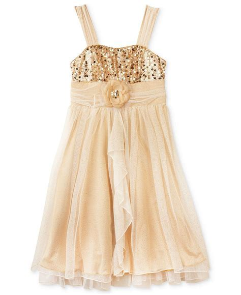 BCX Girls Dress, Girls Plus Sequin Tulle from Macys Eu Quero!