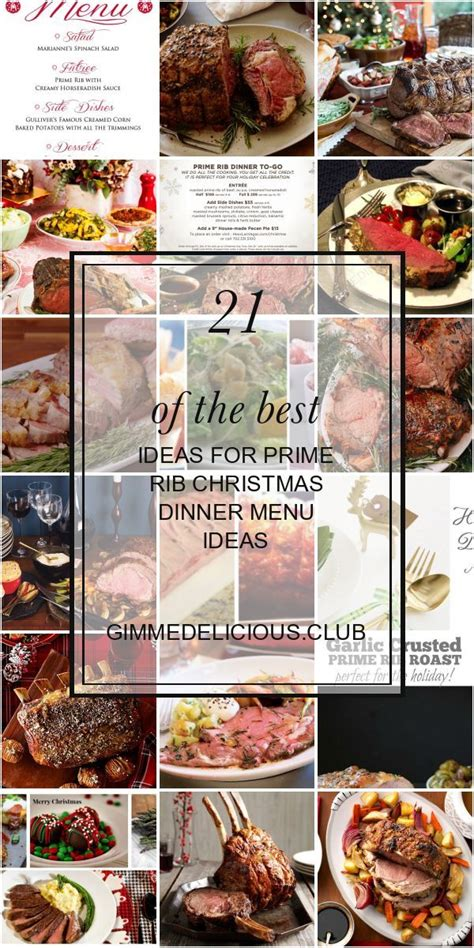 What to serve with prime rib? 21 Of the Best Ideas for Prime Rib Christmas Dinner Menu ...
