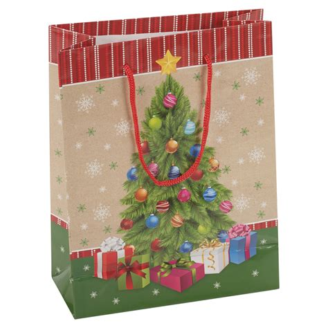 4 x assorted christmas tree style gift bags set xmas party