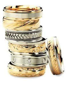wedding ring styles what materials to use