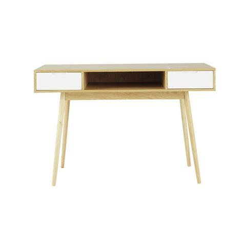 bureau 120 cm bureau vintage en bois l 120 cm fjord maisons du monde