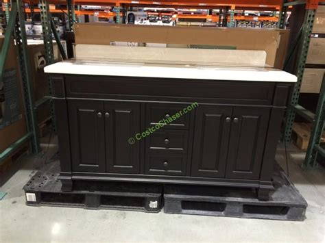 costco vanities double sink lanza 60 double sink wood vanity costcochaser