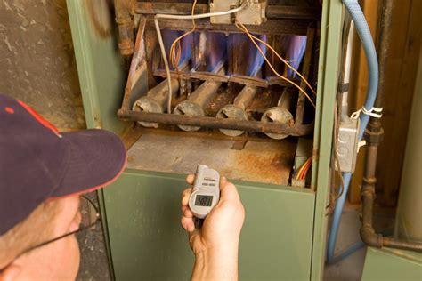 inspect  gas furnace standing pilot light