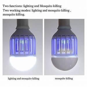 Lampe Anti Insecte : acrato 2 en 1 led ampoule lampe uv moustique tueur anti ~ Melissatoandfro.com Idées de Décoration