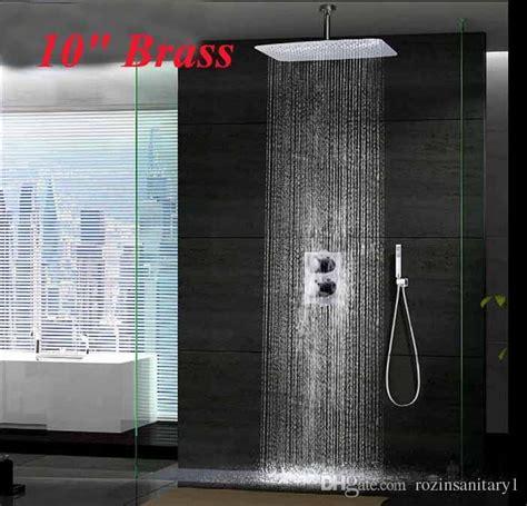 ceiling mount rainfall shower new chrome 10 ceiling mounted rainfall shower