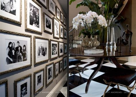 Kris Jenner Home Interior by Kris Jenner Home Gallery Wall Hallway Entry Taupe