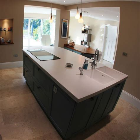 electric hob  double sink  island kitchen