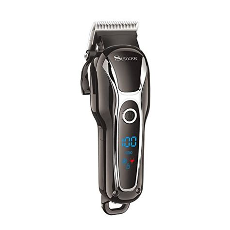 surker pro mans grooming haircut kit cordless hair clippers men
