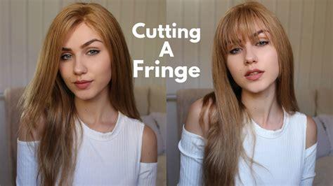 Cutting The Fringe cutting my own fringe how to cut bangs stella