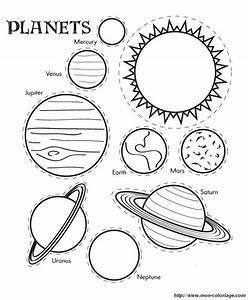Colorare Disegni da ritagliare, disegno pianeti del