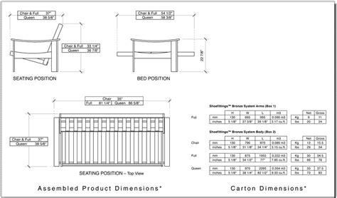Futon Dimensions by Standard Futon Length