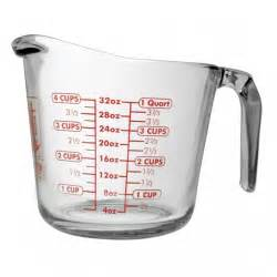 stainless steel canisters kitchen anchor hocking 32 oz open handled measuring cup