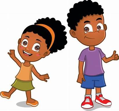 African American Vector Brothers Illustrations Clip Boys