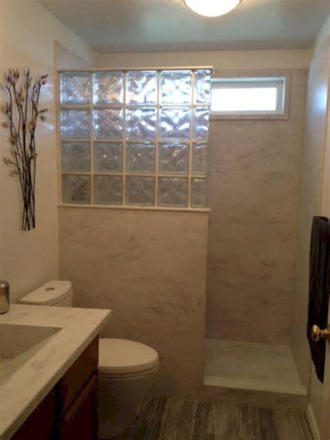 amazing glass brick shower division design ideas
