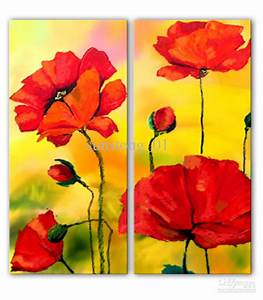 2018 Modern Still Life Group Paints Pop Flowers Painting